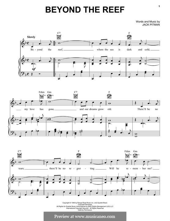 Beyond the Reef: Para vocais e piano (ou Guitarra) by Jack Pitman