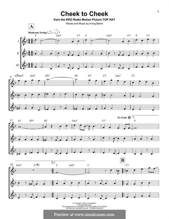Cheek to Cheek: para ukulele by Irving Berlin