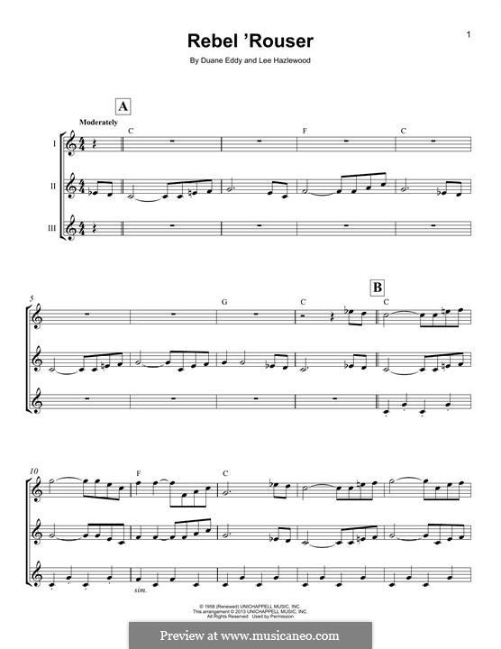 Rebel 'Rouser (Duane Eddy): para ukulele by Lee Hazlewood