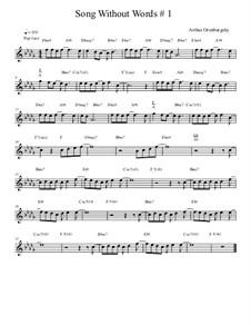 Song Without Words No.1: Song Without Words No.1 by Arthur Orenburgsky