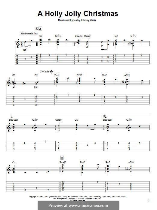 A Holly Jolly Christmas: Para guitarra com guia by Johnny Marks