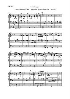 Tauet, Himmel, den Gerechten (Präludium und Choral, Österreichische Melodiefassung): Tauet, Himmel, den Gerechten (Präludium und Choral, Österreichische Melodiefassung) by Roman Jungegger