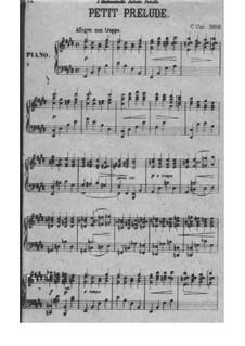Little Prelude No.1 in E Major: Little Prelude No.1 in E Major by César Cui