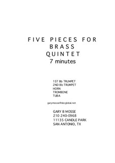 Five Brass Pieces: Five Brass Pieces by Gary Mosse