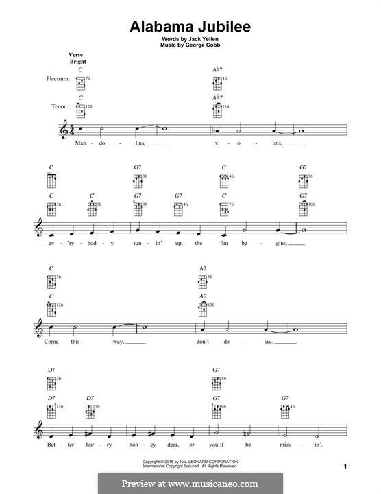 Alabama Jubilee: For banjo by George L. Cobb