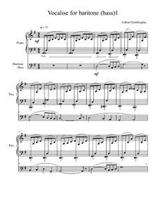 Vocalise for baritone (bass): Vocalise for baritone (bass) by Arthur Orenburgsky