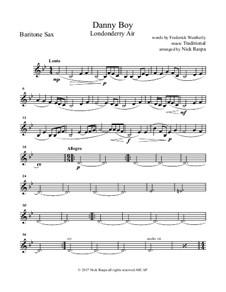 Ensemble version: For saxophone quintet - baritone sax part by folklore