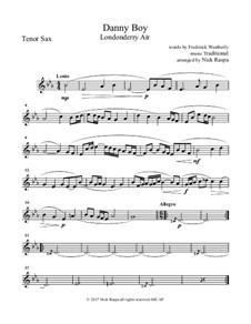 Ensemble version: For saxophone quintet - tenor sax part by folklore