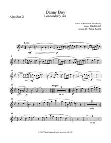 Danny Boy (Londonderry Air): For saxophone quintet - alto sax 2 part by folklore