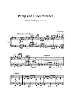 March No.1: Para piano solo by Edward Elgar