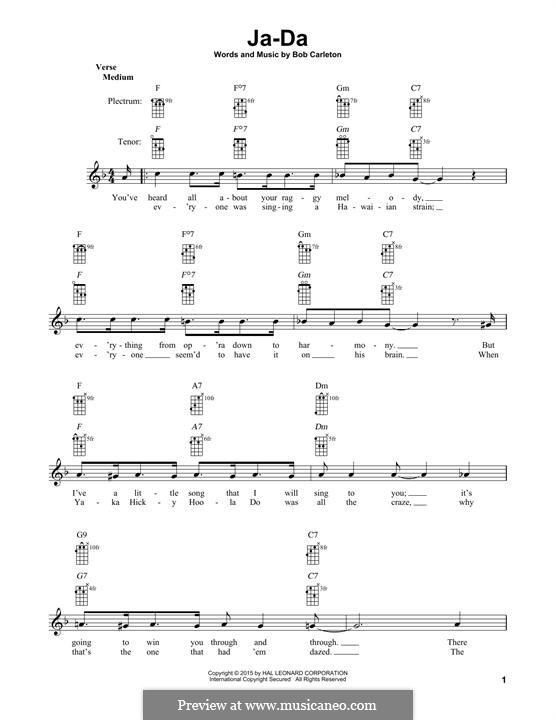 Ja-Da: For banjo by Bob Carleton