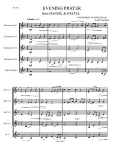 Evening Prayer: For clarinets quintet by Engelbert Humperdinck