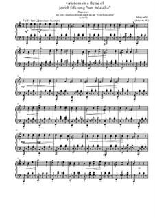 Вариации на тему еврейской народной песни 'Тум-балалайка', Op.11: Ля минор by Marina Akulyan