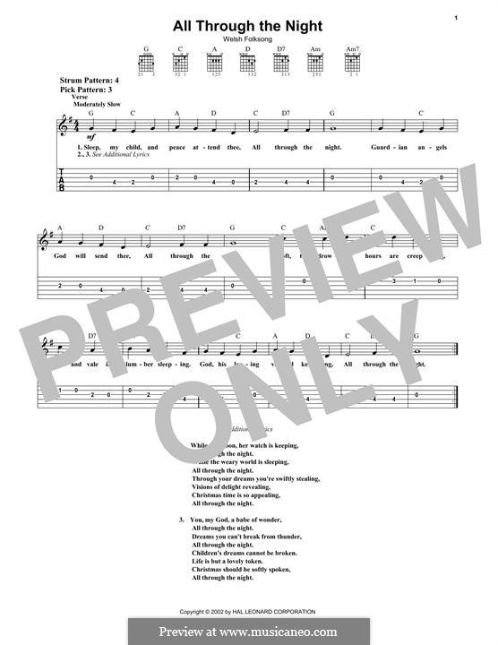 All Through the Night: Para guitarra com guia by folklore