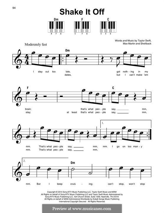 Shake it Off: For any instrument by Shellback, Max Martin, Taylor Swift