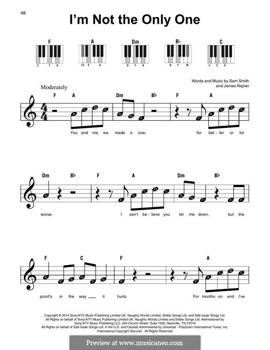 I'm not the Only One: For any instrument by Samuel Smith, James Napier