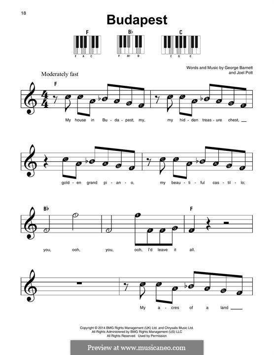 Budapest: For any instrument by Joel Pott, George Ezra Barnett