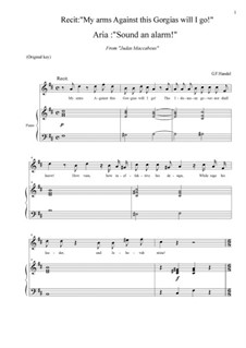 Judas Maccabaeus, HWV 63: Sound an alarm! (D Major) by Georg Friedrich Händel