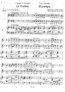 Five Romances, Op.54: No.2 Le colibri by César Cui