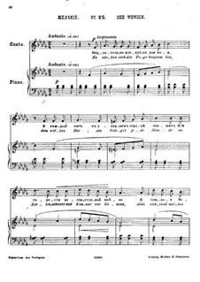 Twenty-Five Poems by Pushkin, Op.57: No.25 Desire by César Cui