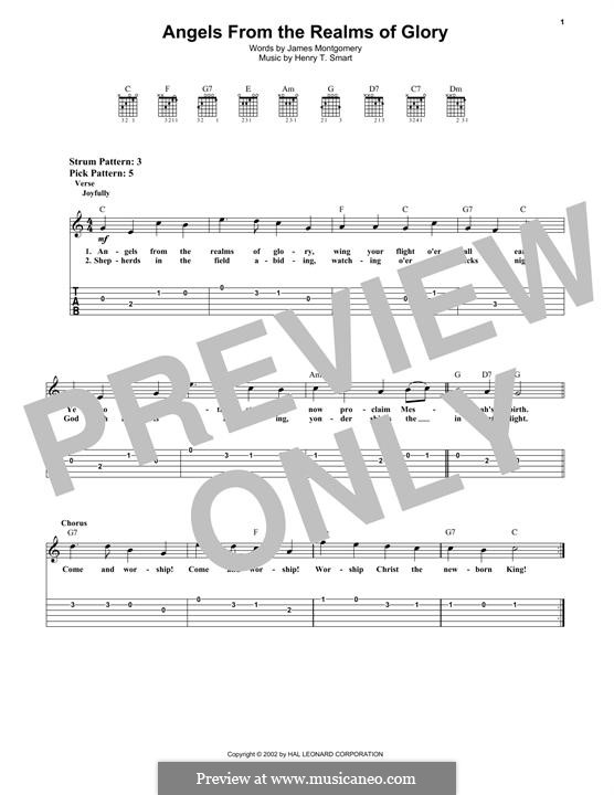 Angels, from the Realms of Glory: Para guitarra com guia by Henry Smart