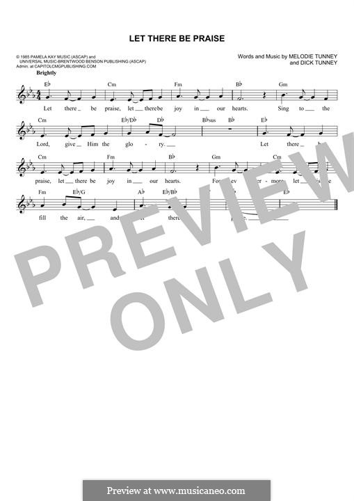 Let There Be Praise (Sandi Patty): melodia by Dick Tunney, Melodie Tunney