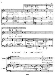 Twenty-Five Poems by Pushkin, Op.57: No.9 Confidant by César Cui