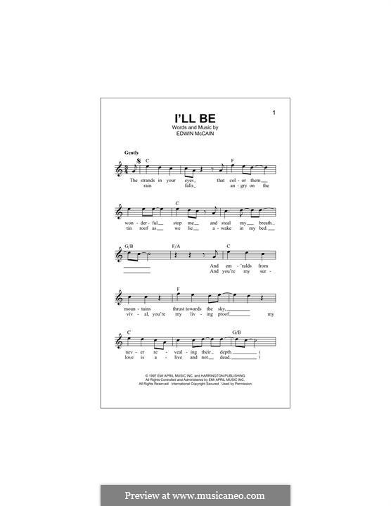 I'll Be: melodia by Edwin McCain