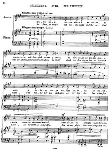 Twenty-Five Poems by Pushkin, Op.57: No.16 To Friends by César Cui