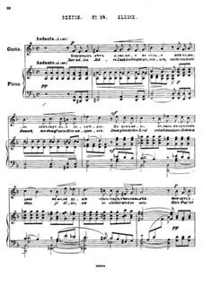 Twenty-Five Poems by Pushkin, Op.57: No.18 Elegy by César Cui