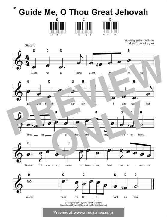 Guide Me, O Thou Great Jehovah: For any instrument by John Hughes