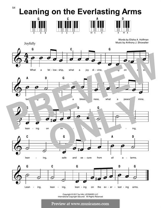 Leaning on the Everlasting Arms: For any instrument by Anthony J. Showalter