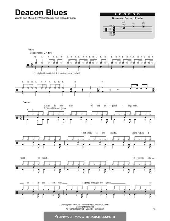 Deacon Blues (Steely Dan): Drum set by Donald Fagen, Walter Becker