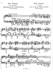 Transcription on Themes from 'Don Carlos' by Verdi, S.435: Transcription on Themes from 'Don Carlos' by Verdi by Franz Liszt