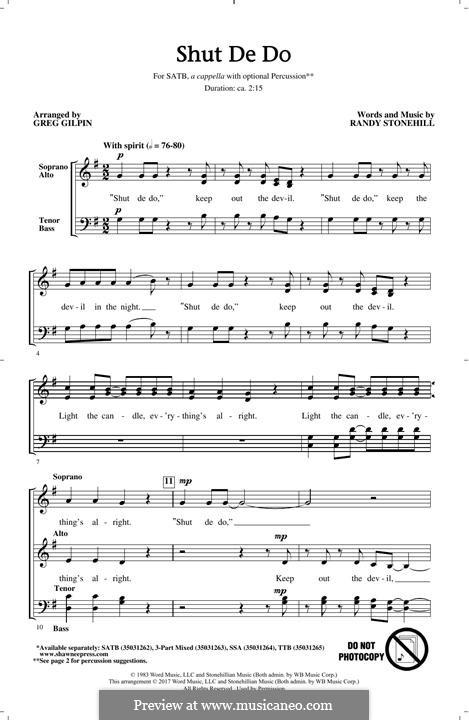 Shut de Do: para coro misto by Randy Stonehill