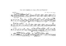 Christmas Eve. Opera: trecho de contrabaixo by Nikolai Rimsky-Korsakov