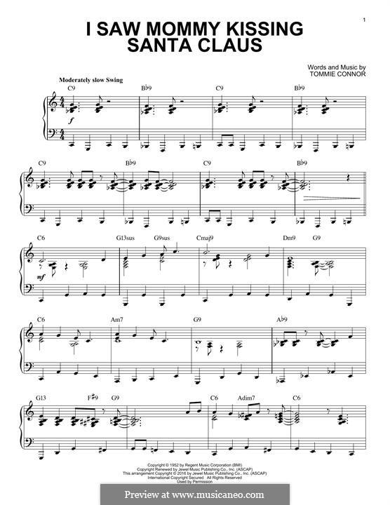I Saw Mommy Kissing Santa Claus, for Piano: para um único musico (Editado por H. Bulow) by Tommie Connor