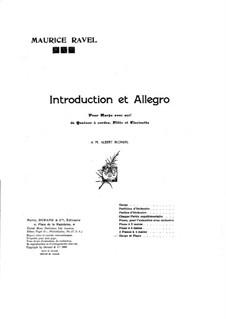Introduction and Allegro, M.46: dois pianos de quatro mãos by Maurice Ravel