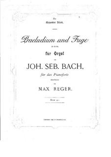 Prelude and Fugue No.2 in D Major, BWV 532: arranjo para piano by Johann Sebastian Bach