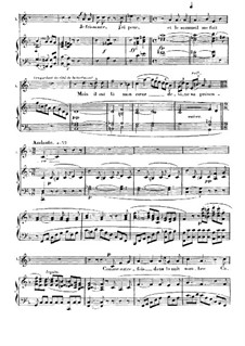 Me voilà seule dans la nuit: For soprano and piano (french/english) by Georges Bizet