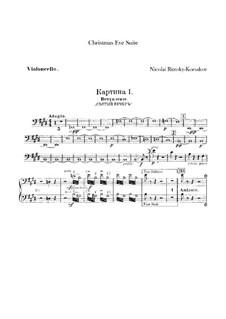 Christmas Eve. Suite: parte violoncelo by Nikolai Rimsky-Korsakov