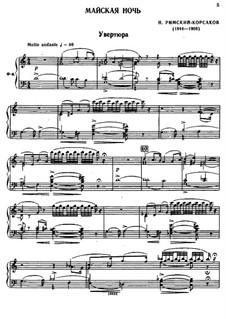 May Night: Partitura Piano-vocal by Nikolai Rimsky-Korsakov