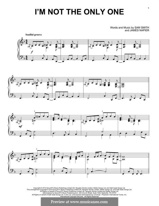 I'm not the Only One: Para Piano by Samuel Smith, James Napier