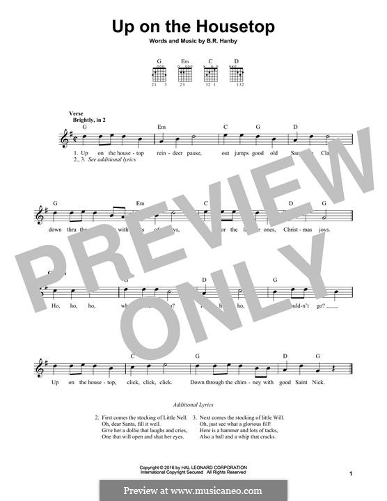 Up on the House Top: Para Guitarra by Benjamin Russel Hanby