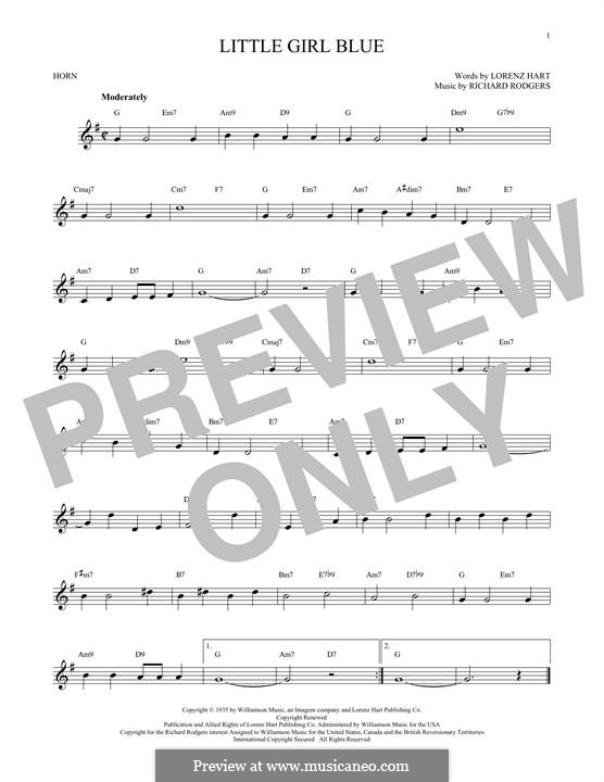Little Girl Blue: For horn by Richard Rodgers
