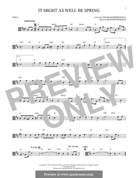 It Might as Well Be Spring: para viola by Richard Rodgers