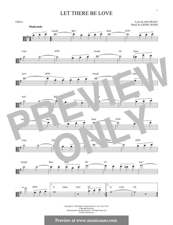 Let There Be Love (Nat 'King' Cole): para viola by Lionel Rand