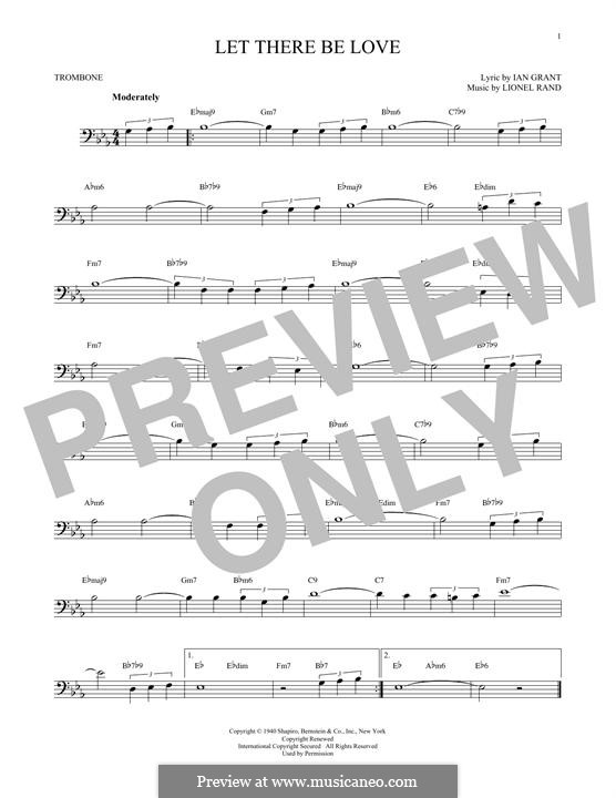 Let There Be Love (Nat 'King' Cole): para trombone by Lionel Rand