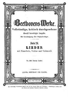 Twelve Irish Songs, WoO 154: Twelve Irish Songs by Ludwig van Beethoven