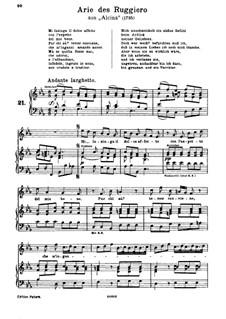 Alcina, HWV 34: Mi lusinga il dolce affetto. Aria for soprano by Georg Friedrich Händel